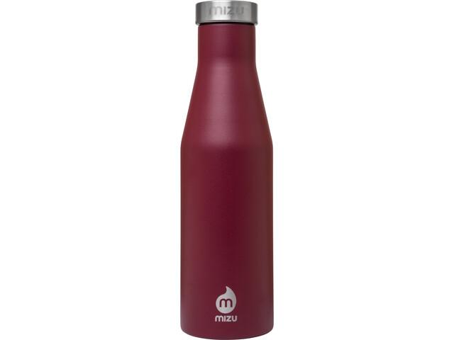 MIZU S4 Botella con aislamiento con Tapa Acero Inoxidable 400ml, enduro burgundy